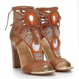 Sam Edelman Beaded Block Heel Sandal